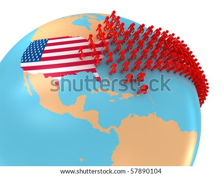 Migration to USA - stock photo