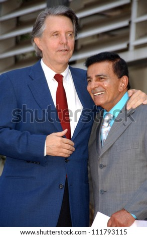 Mike Curb and Casey Kasem at the Ceremony honoring Mike Curb with a star on the Hollywood Walk of Fame. Vine St, Hollywood, CA. 06-29-07 - stock photo