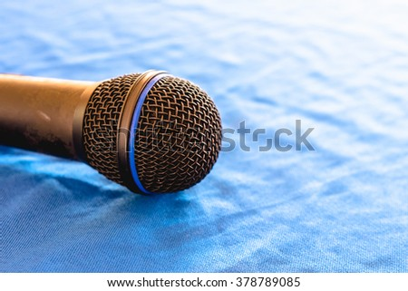 Mike microphone on the table