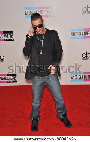 Mike Sorrentino, aka The Situation, at the 2010 American Music Awards at the Nokia Theatre L.A. Live in downtown Los Angeles. November 21, 2010  Los Angeles, CA Picture: Paul Smith / Featureflash
