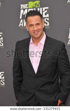 Mike Sorrentino, aka The Situation, at the 2013 MTV Movie Awards at Sony Studios, Culver City. April 14, 2013  Los Angeles, CA Picture: Paul Smith - stock photo