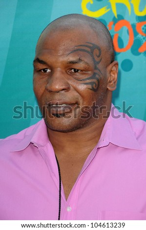 Mike Tyson  at the Teen Choice Awards 2009. Gibson Amphitheatre, Universal City, CA. 08-09-09 - stock photo