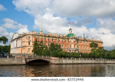 Mikhailovsky castle. engineers' castle. fontanka river. st. petersburg
