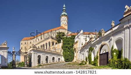 Mikulov Castle, Southern Moravia, Czech Republic - stock photo