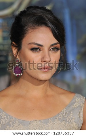 "Mila Kunis at the world premiere of her movie ""Oz: The Great and Powerful"" at the El Capitan Theatre, Hollywood. February 13, 2013  Los Angeles, CA Picture: Paul Smith"