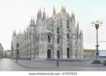 Milan, cathedral - stock photo