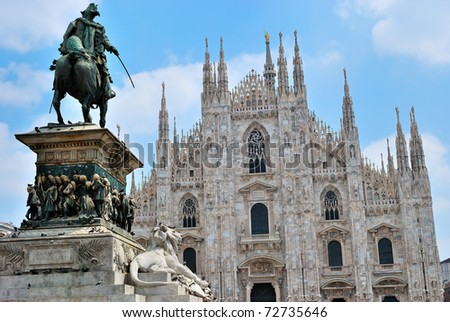 Milan cathedral - stock photo