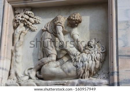 Milan Cathedral - close up - stock photo
