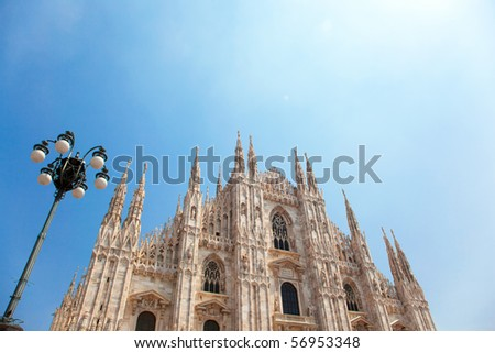 Milan cathedral dome - stock photo