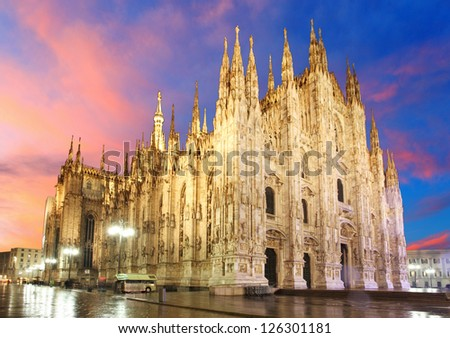 Milan cathedral dome - Italy - stock photo