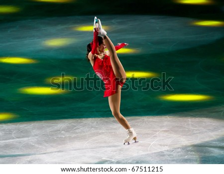 MILAN - DEC 18: Valentina Marchei during the Ice Christmas Gala in the Forum Arena, on December, 2010, in Milan. - stock photo