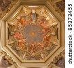 Milan - fresco from one cupola of Cappella Portinari - stock photo
