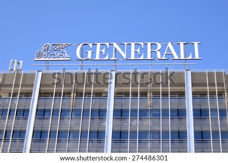 MILAN, ITALY - APRIL 30: building Generali, on April 30, 2015 in Milan, Italy  - stock photo