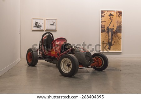 MILAN, ITALY - APRIL 10: Car on display at Miart, international exhibition of modern and contemporary art on APRIL 10, 2015 in Milan. - stock photo