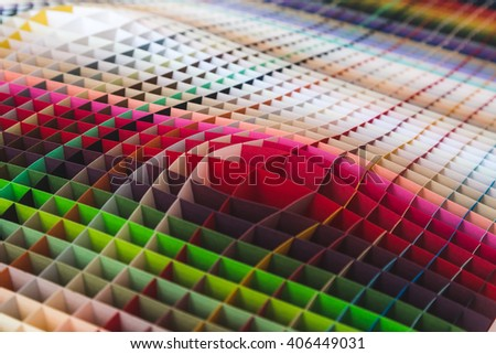 MILAN, ITALY - APRIL 15: Paper texture on display at Fuorisalone, set of events distributed in different areas of the town during Milan Design Week on APRIL 15, 2016 in Milan. - stock photo