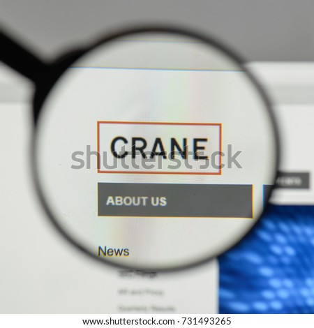 Milan, Italy - August 10, 2017: Crane