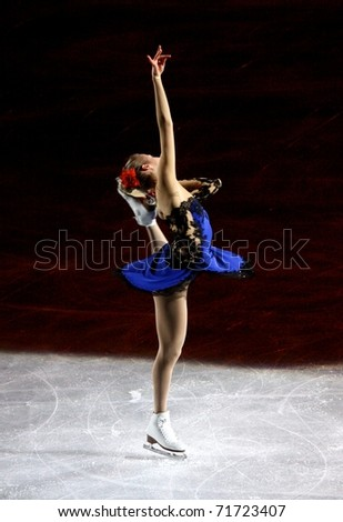MILAN, ITALY - DECEMBER 18: Carolina Kostner during the Ice Christmas Gala in the Forum Arena, on 18 December, 2010, in Milan, Italy. - stock photo