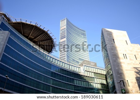 MILAN, ITALY - DECEMBER 5: Palazzo Lombardia in Milan on december 5, 2013, This building, inaugurated in March 2012, is Lombardy regional government seat and was designed by Pei Cobb Freed & Partners