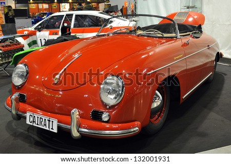 MILAN, ITALY - 22 February 2013:  Porsche 1500 on display at Milano AutoClassica, the classical and sporting car show in Milan.