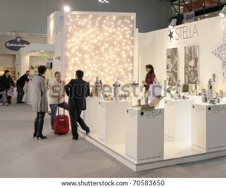 MILAN, ITALY - JANUARY 28: Close-up of design and interior decoration products stand at Macef, International Home Show Exhibition January 28, 2011 in Milan, Italy.