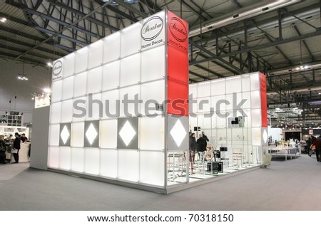 MILAN, ITALY - JANUARY 28: Close-up of design and interior decoration stand at Macef, International Home Show Exhibition January 28, 2011 in Milan, Italy. - stock photo
