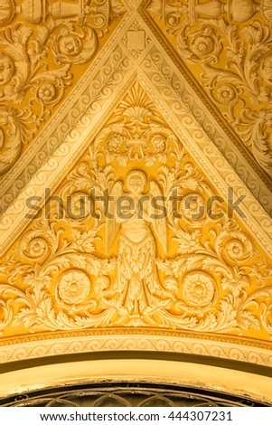 MILAN , ITALY - JULY 04: Ceiling art of  Milano Duomo on 04 July 2015 , Milan, Italy - stock photo