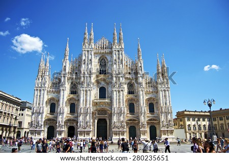 Milan, Italy -  July 29th, 2011: Cathedral of Milan, Italy