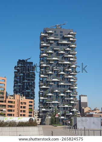 MILAN, ITALY - MARCH 28, 2015: New skyscrapers built for the Expo Milano 2015 international exhibition in the Porta Nuova area