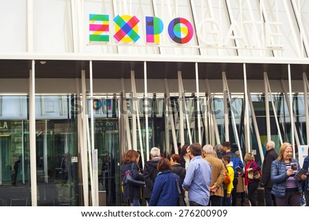 MILAN, ITALY - MARCH 29: View of Expo gate 2015 in Milan on March 29, 2015 - stock photo