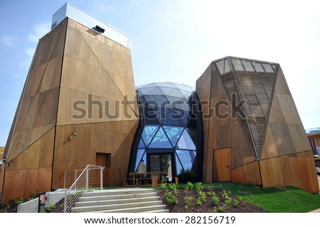 MILAN, ITALY - May 11: Belgium  pavilion at Expo, universal exposition on the theme of food on  May 11, 2015 in Milan, Italy.   - stock photo