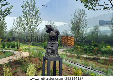 MILAN, ITALY - May 11:  Poland pavilion  at Expo, universal exposition on the theme of food on  May 11, 2015 in Milan, Italy.   - stock photo