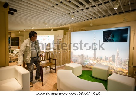 MILAN, ITALY - MAY 27:United Arab Emirates pavilion at Expo, universal exposition on the theme of food on MAY 27, 2015 in Milan