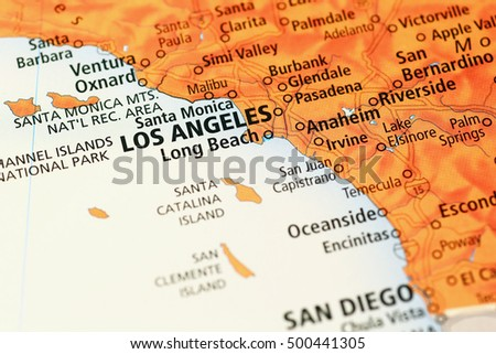 Los Angeles Area Map Stock Images RoyaltyFree Images Vectors - Los angeles on the map