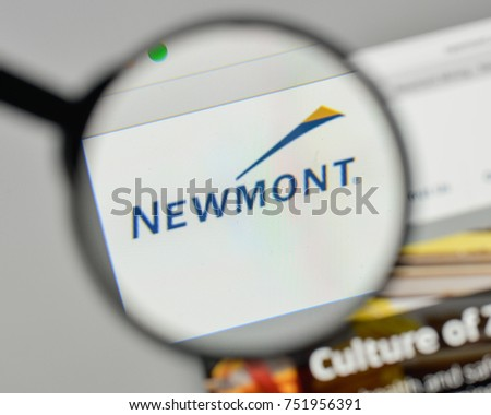 Milan Italy November 1 2017 Newmont Stock Photo Royalty Free