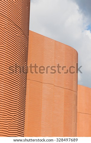 MILAN, ITALY - OCTOBER 16: Architectural detail of United Arab Emirates pavilion at Expo, universal exposition on the theme of food on OCTOBER 16, 2015 in Milan. - stock photo