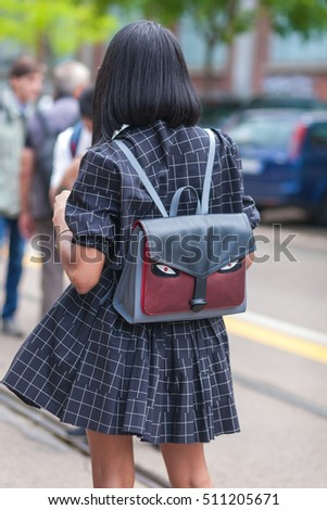 Milan Italy 22 September 2016 Woman Stock Photo 490604719 ...