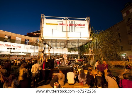 MILAN, ITALY - SEPTEMBER 12: Participants of third day of the 'Milano Film Festival' held on September 12, 2010 in Milan. The festival, since 1995, invites hundreds of filmmakers, musicians and short films from all over the world.