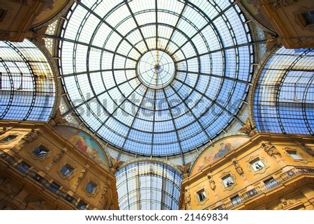 Milan (Lombardy, Italy) - Gallery Vittorio Emanuele II, the ceiling