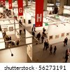 MILAN - MARCH 27: Panoramic view of people visiting MiArt ArtNow, international exhibition of modern and contemporary art March 27, 2010 in Milan, Italy. - stock photo