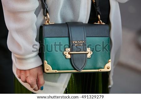 Женская сумка Prada Milano Прада Милано, чёрная