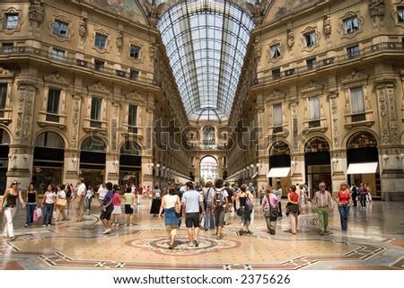 Milan. Very big shop. - stock photo