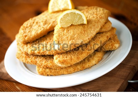 Milanese cutlet - stock photo