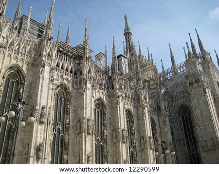 Milano cathedral - stock photo