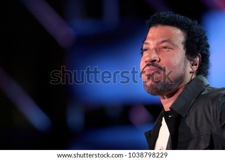 "Milano Italy 05/29/2004, Arena Civica :  Lionel Richie in concert during the musical event ""Festivalbar 2004""."