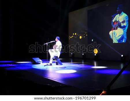 MILANO, ITALY - MAY 26, 2014: Singing performance at the beginning of International Grand Prix Advertising Strategies opening ceremony in Milano Italy. - stock photo