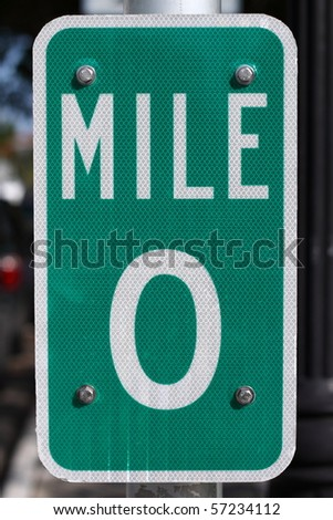 Mile 0 in Key West - stock photo