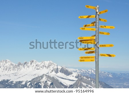 Milestone - stock photo