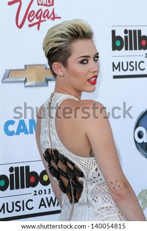 Miley Cyrus at the 2013 Billboard Music Awards Arrivals, MGM Grand, Las Vegas, NV 05-19-13 - stock photo