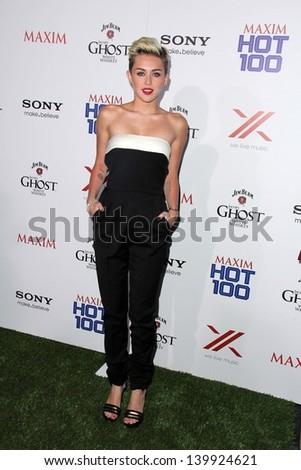 Miley Cyrus at the 2013 Maxim Hot 100 Party, Vanguard, Hollywood, CA 05-15-13 - stock photo