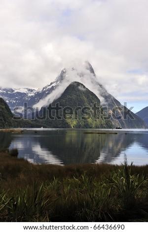 Milford Sound, New Zealand South Island - stock photo